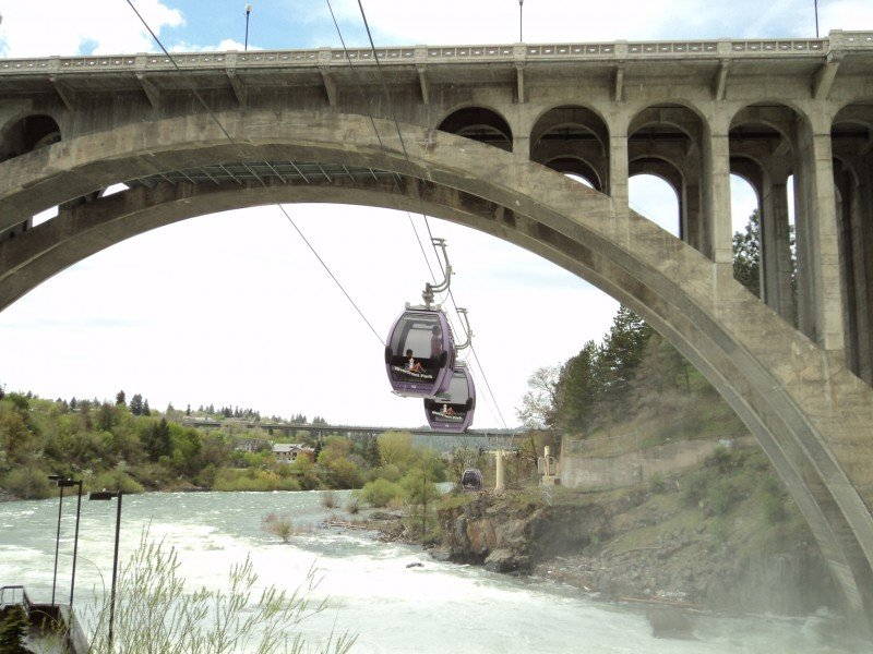 Spokane Gondola Rides over the Falls