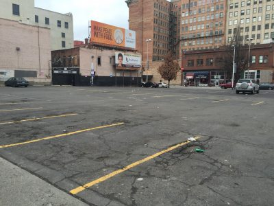 Downtown Spokane Parking Lot