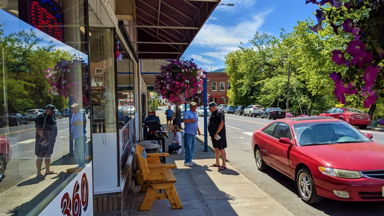 Downtown Harrison, Idaho -- 2020
